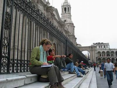 Catedral de Arequipa, plaza de Armas